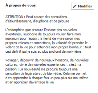 Site de rencontre exemple profil