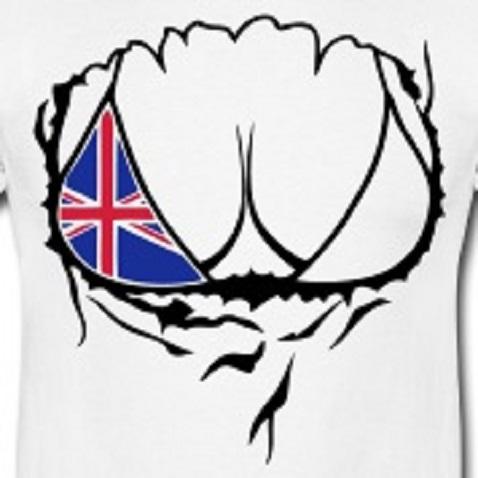 corps-drapeau-anglais-femme-dechire-sein-Tee-shirts