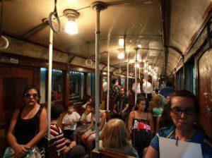 Intérieur d'une rame de métro